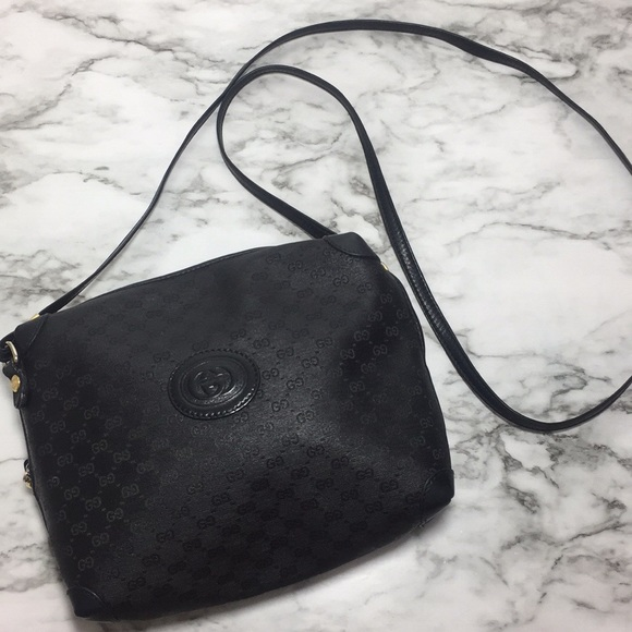 9caebe3620c Gucci Handbags - Vintage Gucci black Crossbody bag